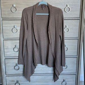 Fenn Wright Manson Brown Cashmere Cardigan Size XL